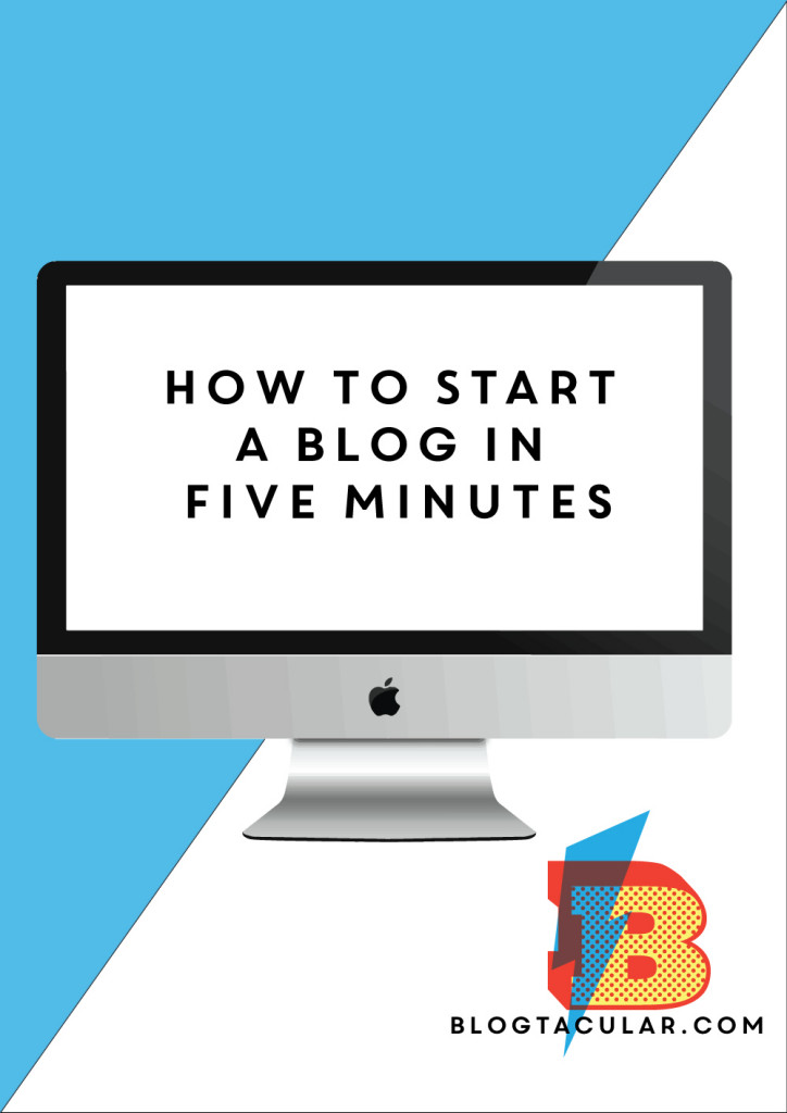 How to Start a Blog in 5 Minutes EBook
